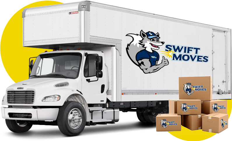 Image of Swift Moves moving truck and moving boxes