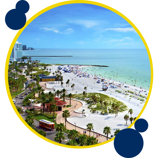 Image of Clearwater FL where Swift Moves offer moving services