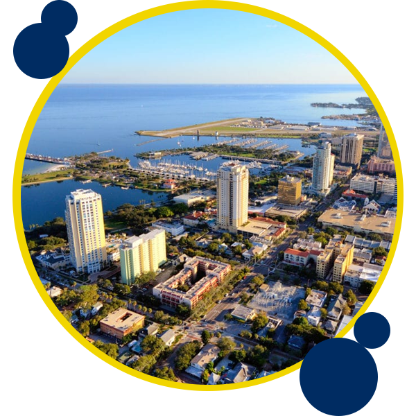 Image of St. Petersburg FL where Swift Moves offer moving services
